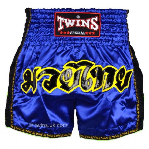 Twins TWS-910 Blue Retro Muay Thai Shorts